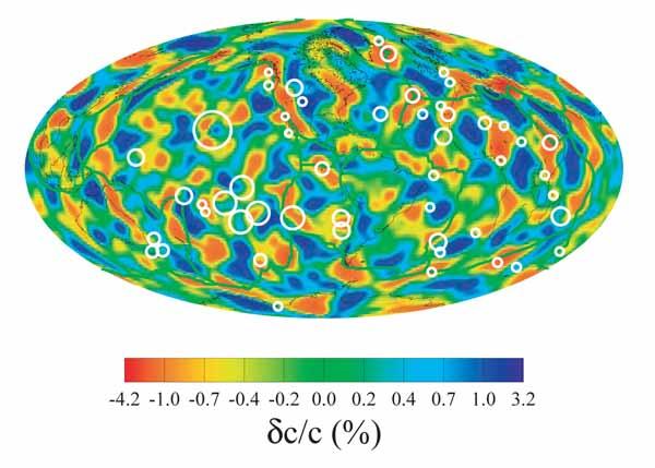 Латеральные неоднородности фазовой скорости 75-ти секундных волн Релея