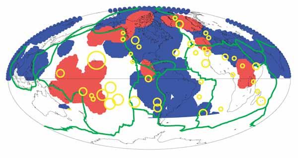 Зона сверхнизких скоростей (ULVZ - Ultra-Low Velocity Zones) в основании мантии.
