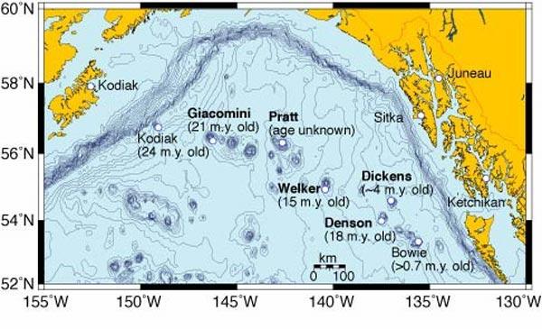 Кодьяк – Боуи цепочка подводных гор.