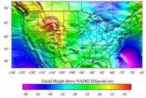 Йеллоустонская горячая точка. Форма геоида. Геодинамика.