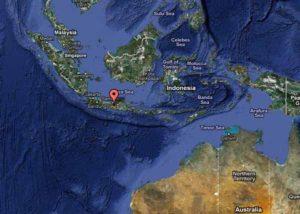 Остров Ява. Активный вулкан Мерапи.