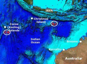 Карта горячих точек Кокосовые (Килинг) (CK), Юг Островов Ява (SJ)