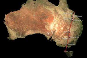 Цепь вулканов Косгроув в Восточной Австралии.