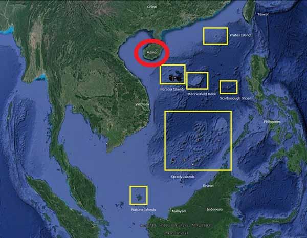 Остров Хайнань. Положение на карте Мира.